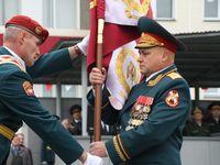Генерал Захаркин вручил знамя Новосибирскому военному институту им. Яковлева