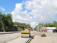 Равнение на дорогах  в посёлке Геофизиков